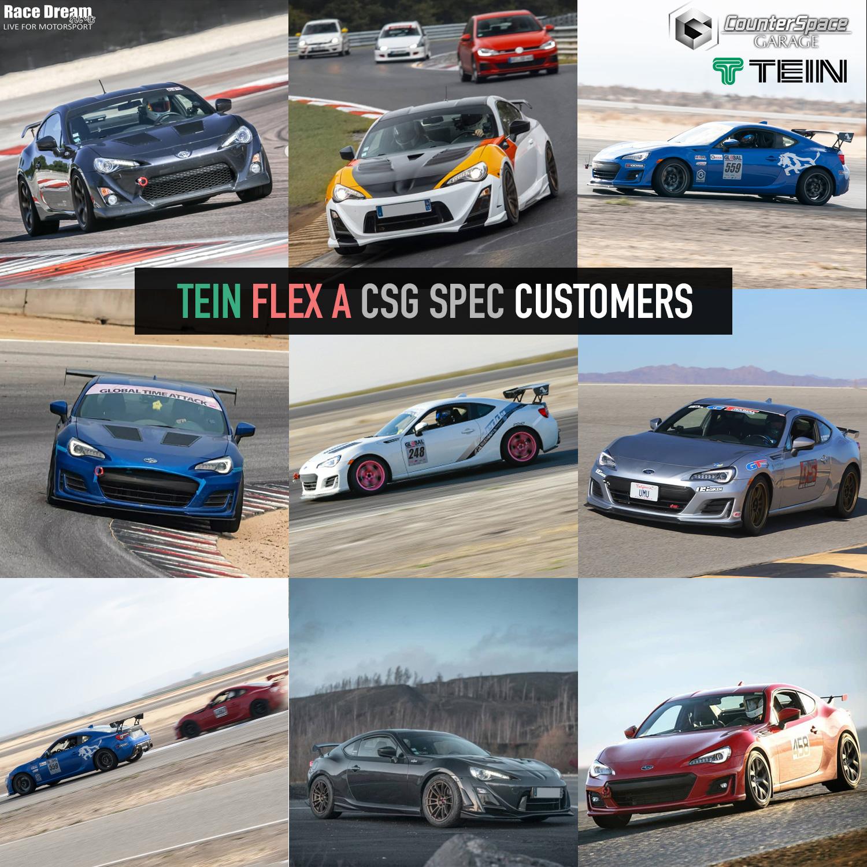 Tein Flex A CSG Spec coil-overs for Toyota 86, Subaru BRZ. Customer Shots