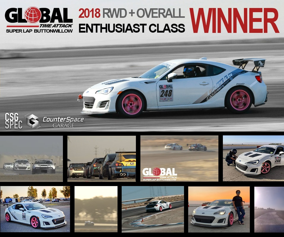 Tein Flex A CSG Spec coil-overs for Toyota 86, Subaru BRZ. Super Lap Win Buttonwillow CSG Mike.