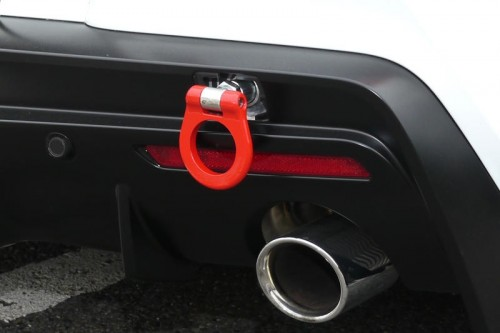 Cusco - Steel Folding Type Tow Hook - Red - A90 Toyota GR Supra (REAR) - 1C2 017 R