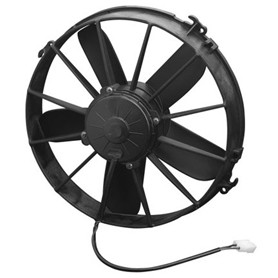 "SPAL High Performance Cooling Fans - 30102038 - 12"" Electric Fan - Single - 1640 CFM - 12V - Puller - Black"
