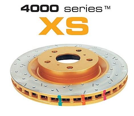 DBA 4000 Series Rotors - Uni-Directional Cross Drilled / Slotted Rotor - 10 Stud Hole (5x100 & 5x114.3) - Subaru Impreza WRX STI - REAR - 4655XS-10