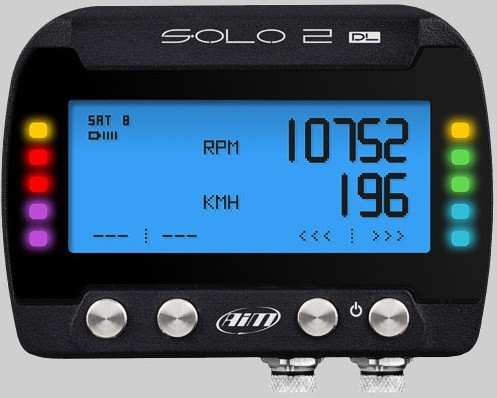 AiM Sports - Solo 2 DL - GPS Lap Timer / Datalogger - ECU Connection