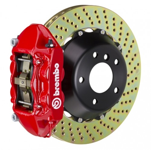"Brembo - GT System - 345x28mm (13.6"") 2-Piece Disc - 4-Piston Caliper - Big Brake Kit - REAR - Subaru BRZ / Scion FR-S / Toyota GT86 - 2P-.8042A-"