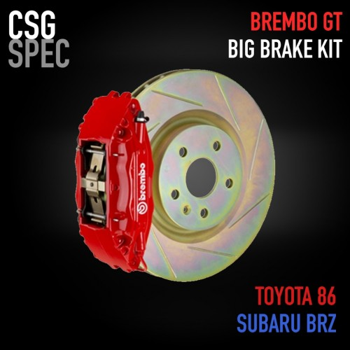 CSG Spec - Brembo GT Big Brake Kit - 4 Piston - 326x30mm Slotted Disc - Subaru BRZ / Scion FR-S / Toyota GT86