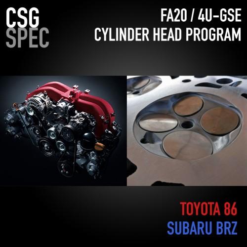 CSG - 2015+ FA20 / 4U-GSE Cylinder Head Program - Subaru BRZ / Scion FR-S / Toyota 86