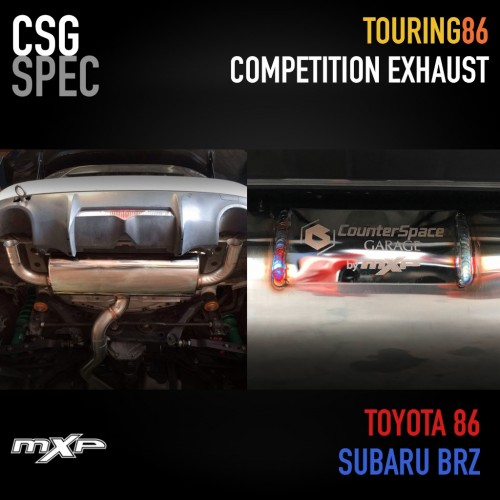 CSG Touring86 Exhaust for Subaru BRZ and Toyota 86