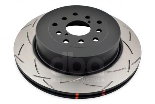DBA 4000 Series Rotors - Slotted - 10 Stud Hole (5x100 & 5x114.3) - Subaru Impreza WRX STI - REAR - 4655S-10