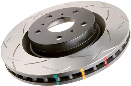 DBA - T3 4000 Series Rotor - Uni-Directional Slotted Rotor FRONT Pair - BRZ/FRS - 4650S