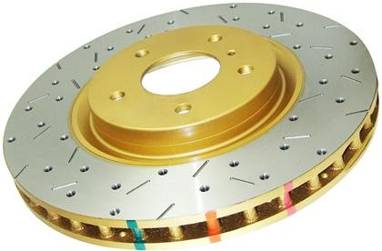 DBA - 4000 Series Rotor - Uni-Directional Cross Drilled / Slotted Rotor Front Pair - BRZ/FRS - 4650XS