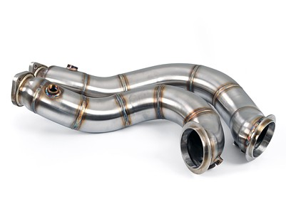 "Macht Schnell - Stainless Steel 3"" Catless Track Downpipe - N54"