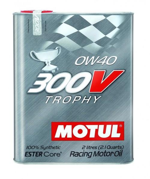 """Motul 300V """"TROPHY"""" 0W40 - 2 Liter Tin"""
