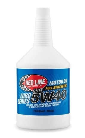 Red Line - EURO-SERIES - 5W40 - Motor Oil - 1 Quart