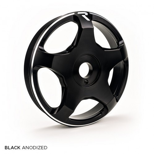 Raceseng Revo FA / FB Crank Pulley - Black - Toyota GT86 / Scion FR-S / Subaru BRZ | 2013+