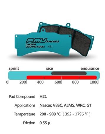 PMU Racing H21 - Medium Torque - Brembo 4-Piston - Club Racing Caliper D49 - F1077 (20mm)