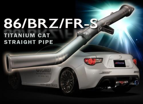 TOMEI - EXPREME Ti - Titanium Cat Straight Pipe - Scion FR-S / Subaru BRZ / Toyota GT86 - TB6100-SB03A (431005)