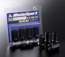 WedsSport Competition Lug Nuts - Steel Type - Open End - M12x1.50 - 4pc / Set