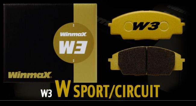 Winmax W3 Front Brake Pads - Nissan 370Z / Infiniti G37 Sport Caliper  (Akebono)