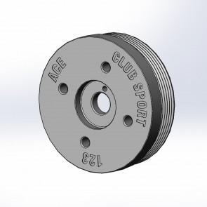 ACE Merge Header - Engine Crank Pulley - 123mm Diameter - Subaru BRZ / Scion FR-S / Toyota 86 - FA20