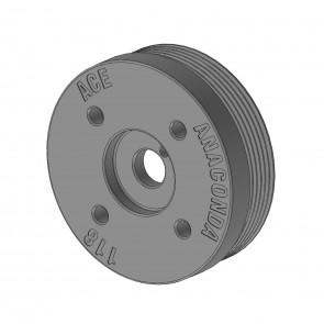 ACE Merge Header - Engine Crank Pulley - 118mm Diameter - Subaru BRZ / Scion FR-S / Toyota GT86 - FA20