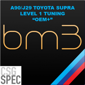 "CSG Spec - Level 1 ""OEM+"" Tune -  bootmod3 - A90 / J29 Toyota GR Supra"