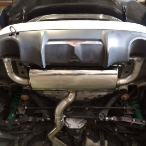 Exhaust system without tips installed