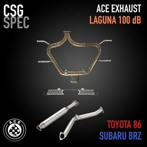 ACE Laguna 100 Exhaust - CSG Special Tip - Subaru BRZ / Scion FR-S / Toyota 86