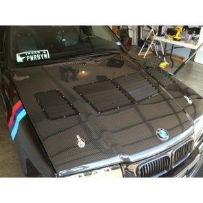 Trackspec - Center Only Hood Vent - BMW E36 M3