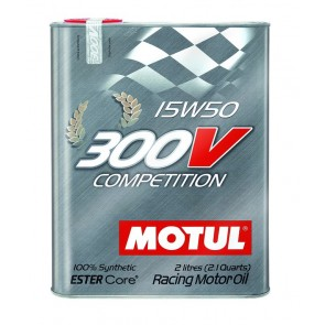 "Motul 300V ""COMPETITION"" 15W50 - 2 Liter Tin"
