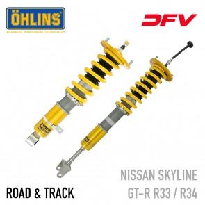 Öhlins Road & Track DFV Coil-Over Suspension - Nissan GT-R R33 / R34