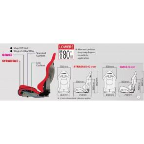 CUSCO x BRIDE - Low Max - STRADIA II + C Sport - Standard Cushion - Reclining Bucket Seat - BRD-G23SCF