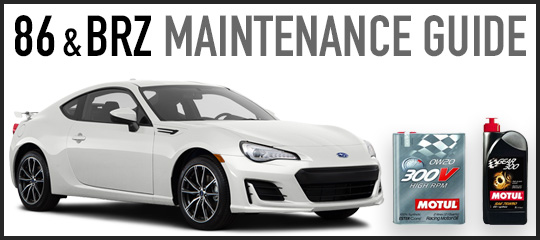 Toyota 86 Subaru BRZ Maintenance Guide