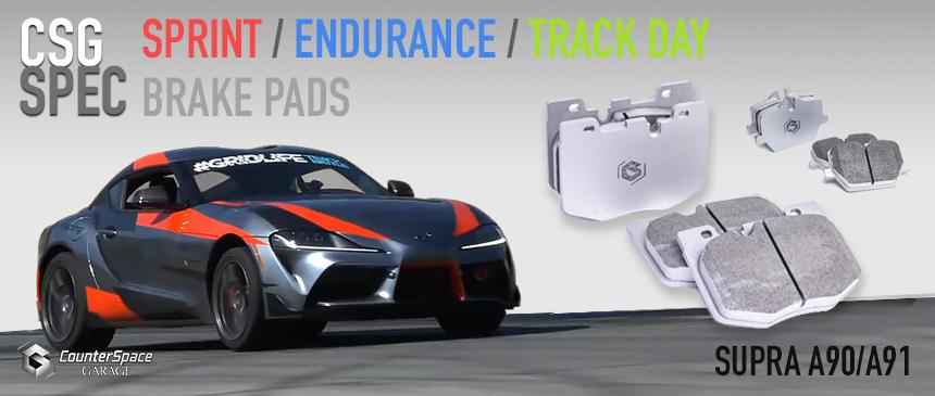 CSG Spec Brake Pads for Toyota Supra A90 A91