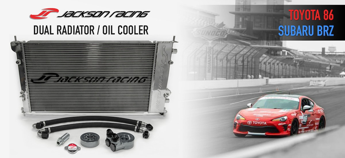 Jackson Racing Dual Radiator Oil Cooler